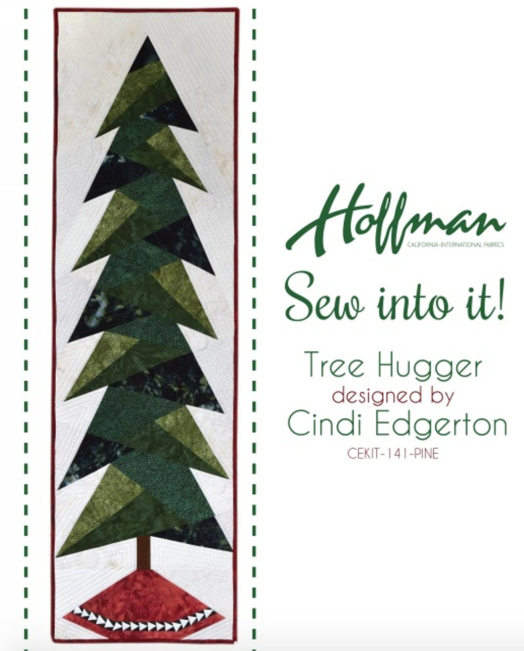 Sew into it Pine Tree Hugger Quilt Kit by Hoffman Fabrics