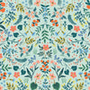 Wildwood Mint Metallic Fabric RP105-NA2M by Cotton + Steel Co. RP105-MI1M