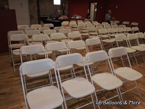 White Folding Plastic Chairs