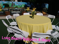 "Colorful 60"" Rounds Linens"