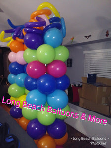 4ft Plain  Balloon Columns