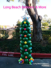 Holiday Theme Balloon Columns