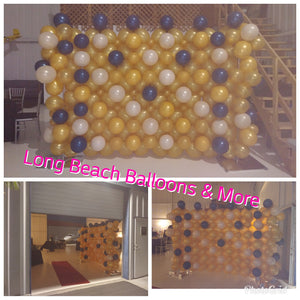 Organic Balloon Wall 8ft Long by 6ft Height