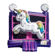 3D Unicorn Bounce House