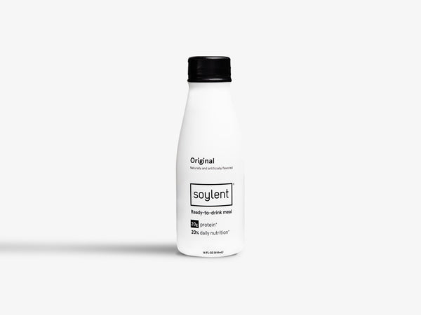 A bottle of Ready-to-Drink Original Soylent