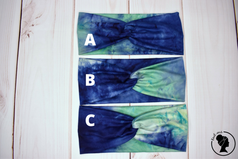 "Laguna Blue and Green Tie Dye Large 4"" RTS"
