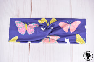 "Brushed Purple Butterflies Large 3"" RTS"