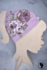 Brushed Lavender Pink Floral Large Twistem