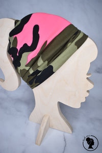 Brushed Neon Pink Green Camo Large Twistem