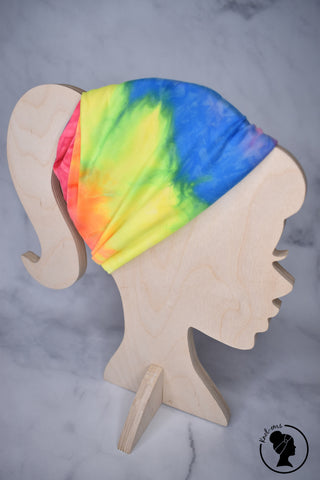Brushed Neon Rainbow Tie Dye Large Twistem