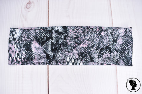 "Brushed Pink Snakeskin Large 3"" RTS"