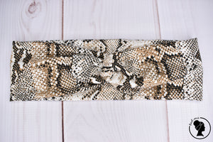 "Brushed Brown Snakeskin Large 3"" RTS"