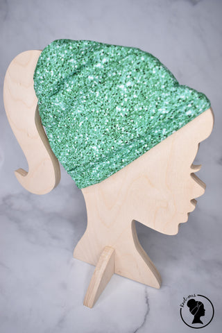 Brushed Light Green Glitter Large Twistem