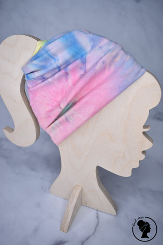 Brushed Pastel Rainbow Tie Dye Large Twistem