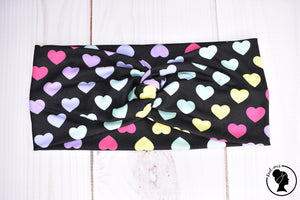 "Brushed Multicolor Hearts Large 4"" RTS"