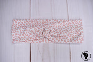 "Brushed Pink Leopard Large 3"" RTS"