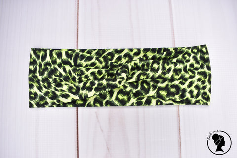 "Brushed Lime Leopard Large 3"" RTS"