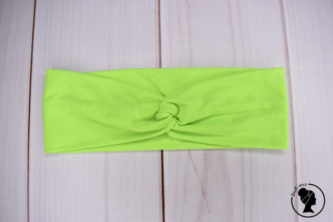"Brushed Neon Lime Yellow Large 3"" RTS"