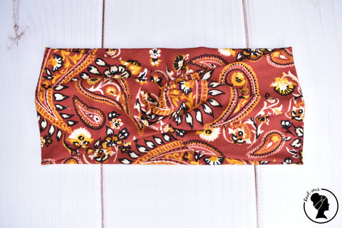 "Brushed Rusty Paisley Large 4"" RTS"
