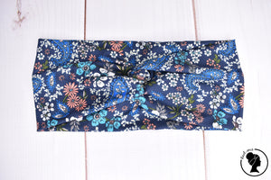 "Brushed Navy Paisley Large 4"" RTS"