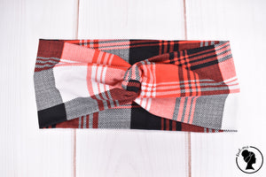 "Brushed Red and Black Plaid Large 4"" RTS"