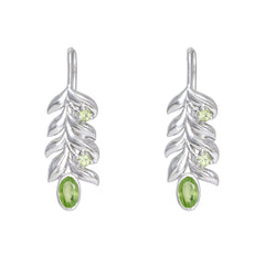 Hep Audrey Leaf Shaped Peridot Gemstone Jewellery with Fruit