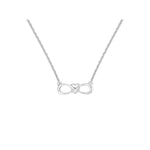 Amore Endless Love Heart In Infinity Sterling Silver Pendant Chain