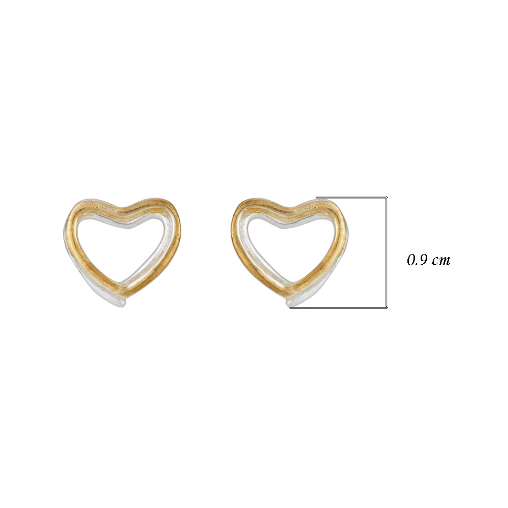 Hep Audrey Amore Forever Love Twin Hearts Sterling Silver Stud Earrings 3