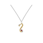 Amore Infinite Love Sterling Silver Pendant Chain With Garnet