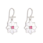 Buy Online  Pink Tourmaline Hangings-Artisan Collection Bread Loaf Sterling Silver Earrings with Pink Tourmaline 3