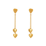 Buy Online 18ct Gold earrings - Little Hearts Sterling Silver Earrings with White Topaz 1