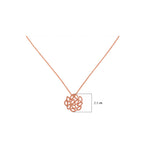Buy Rose Gold Online- Artisan Collection Rose Grahams Sterling Silver Pendant Chain UK