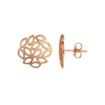Buy Rose Gold Stud Online- Artisan Collection Rose Grahams Sterling Silver Stud Earrings 2