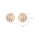 Buy Online Rose Gold Chaotic Pattern  Artisan Collection Studs 3