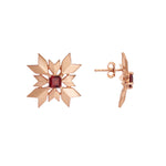 Buy Artisan Collection Red Garnet Snowflake Stud Earring Online  2