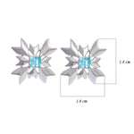 Buy - Hep Audrey Artisan Collection Snowflake Sterling Silver Stud Earrings with Blue Topaz UK