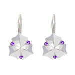Buy Online - Hep Audrey Artisan Collection Sycamore Leaf Sterling Silver Earrings with Amethyst
