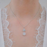 Buy Online Aurora Collection Blue Topaz and Grey Moonstone Pendant Chain 4