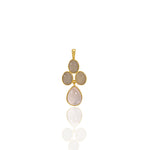 Buy Online 18 ct Pendant Necklace- Aurora Collection Grey Moonstone and Rose Quartz Pendant with Chain UK