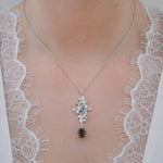 Buy online Aurora Collection Peridot, Blue Topaz and Smoky Quartz Pendant Chain UK