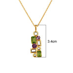 Buy Online Sterling Silver Pendant Chain- Aurora Collection Peridot and Amethyst Pendant with Chain UK