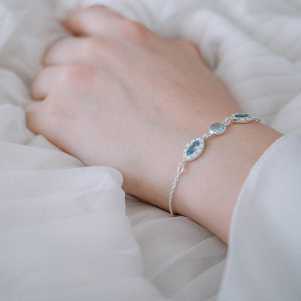 Affordable blue topaz bracelet