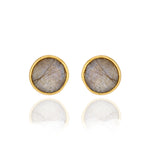 Hep Audrey Corona Beautiful Sterling Silver Stud Earrings with Labradorite 1