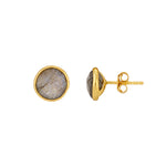 Buy - Hep Audrey Corona Beautiful Sterling Silver Stud Earrings with Labradorite UK