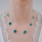 Buy - Hep Audrey Corona Delicate Green Onyx Sterling Silver Bracelet Cum Necklace UK
