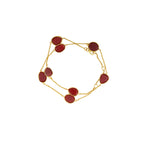 Buy - Hep Audrey Corona Red Onyx Sterling Silver Bracelet Cum Necklace UK