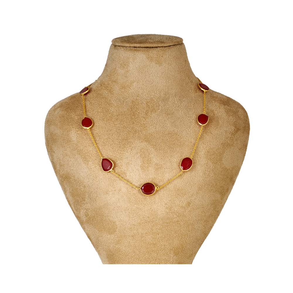 Buy Online - Hep Audrey Corona Red Onyx Sterling Silver Bracelet Cum Necklace UK