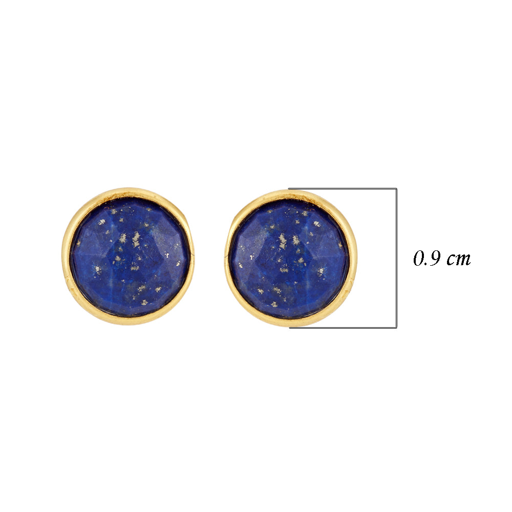 Buy online Hep Audrey Corona Sparkling Sterling Silver Stud Earrings with Lapis Lazuli UK