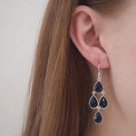 Affordable black chandelier earrings