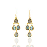 Hep Audrey Corona Sterling Silver Chandelier Earrings with Labradorite UK